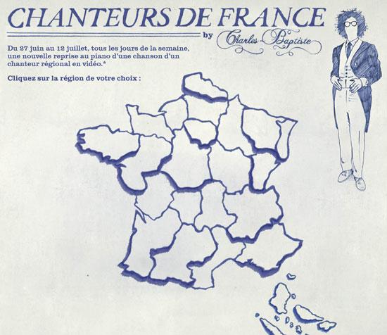 "Application Facebook ""Chanteurs de France"""